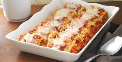 Lasagna en rolos