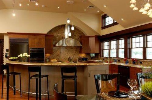 Barras rusticas para cocinas for Tabla de la barra de la cocina de separacion
