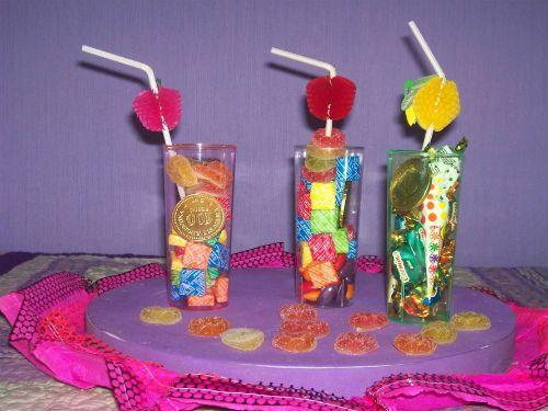 centros de mesa de dulces