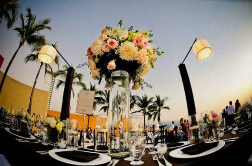 centros de mesa de vidrio para boda