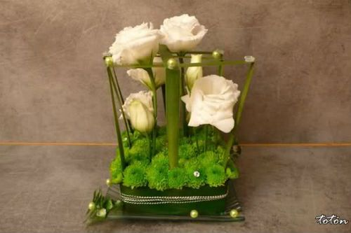 centros de mesa flores artificiales