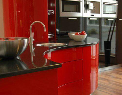 cocinas rojas modernas