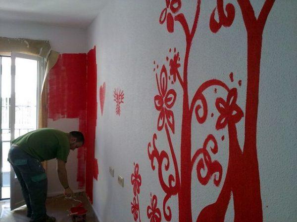 Como pintar las paredes del salon2
