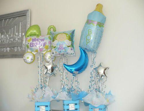 centros de mesa para baby shower con globos