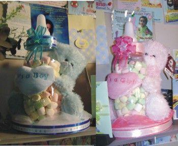 Centros de mesa para babyshower