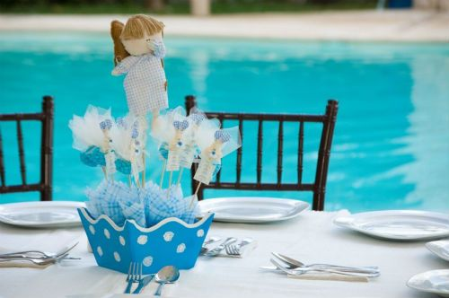 centros de mesa para bautizo florales