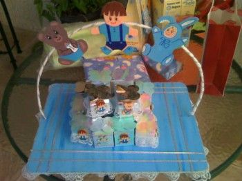 Centros de mesa para bautizo para niño