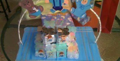 centros de mesa para bautizo para nino
