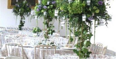 centros de mesa para boda altos
