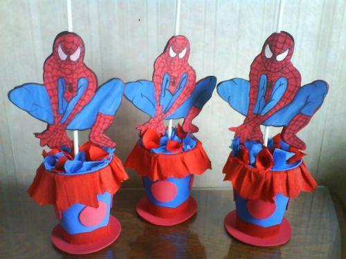 centros de mesa spiderman