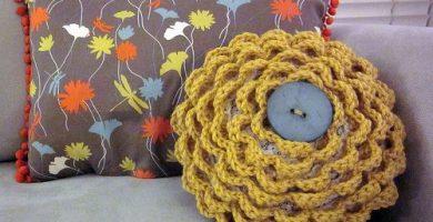 cojines en crochet