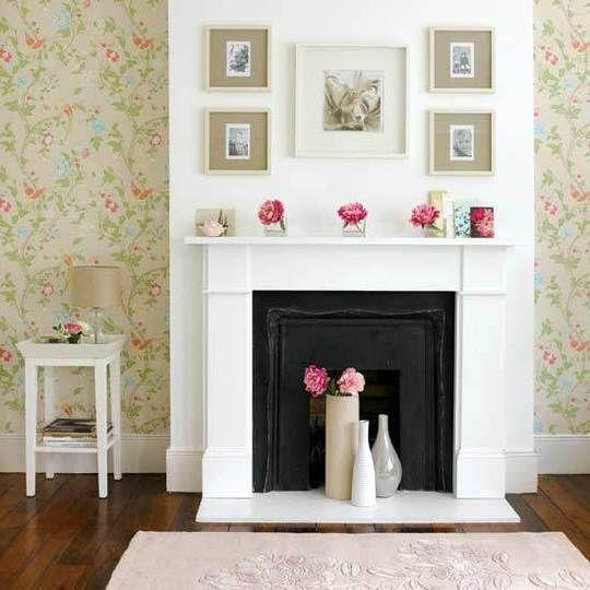 Como decorar una chimenea