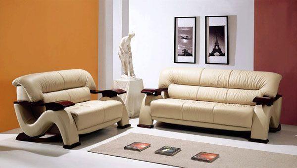 Muebles de sala de cuero