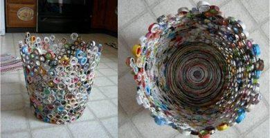 Manualidades con revistas recicladas