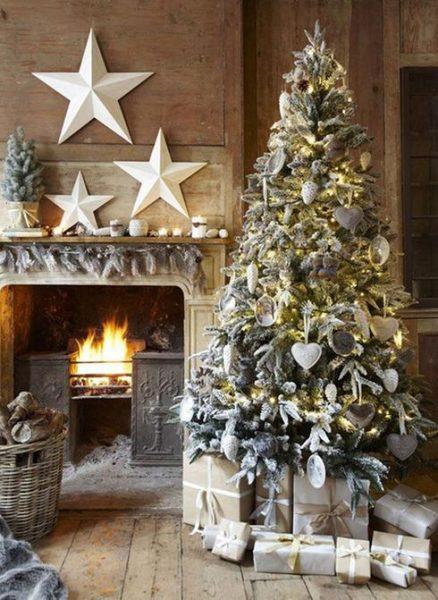 arbol-navidad-decoración-antigua