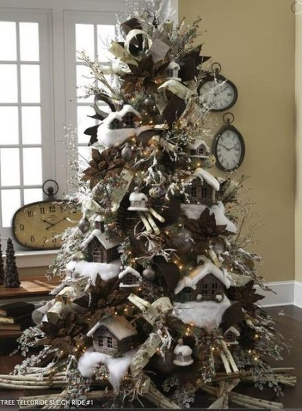 arbol-navidad-decoración-rustica