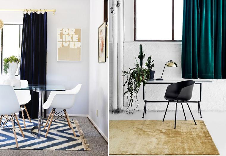 cortinas con color