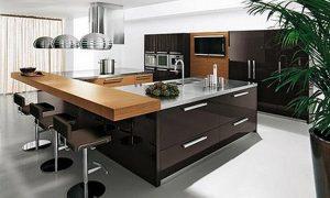 Cocinas minimalistas color chocolate