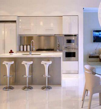 Cocinas pequeñas minimalistas