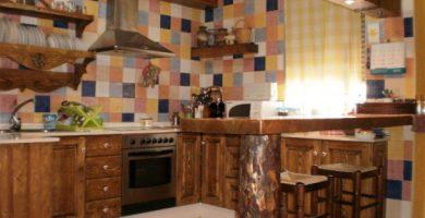 Decoraciones de cocinas rústicas 560x419