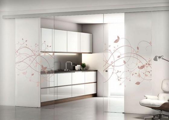 Puertas de vidrio para cocinas