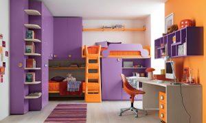 dormitorio pared lila