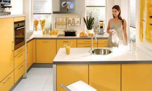 fotos cocinas amarillas