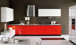 Cocinas bonitas de color rojo