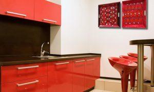 combinar paredes rojas