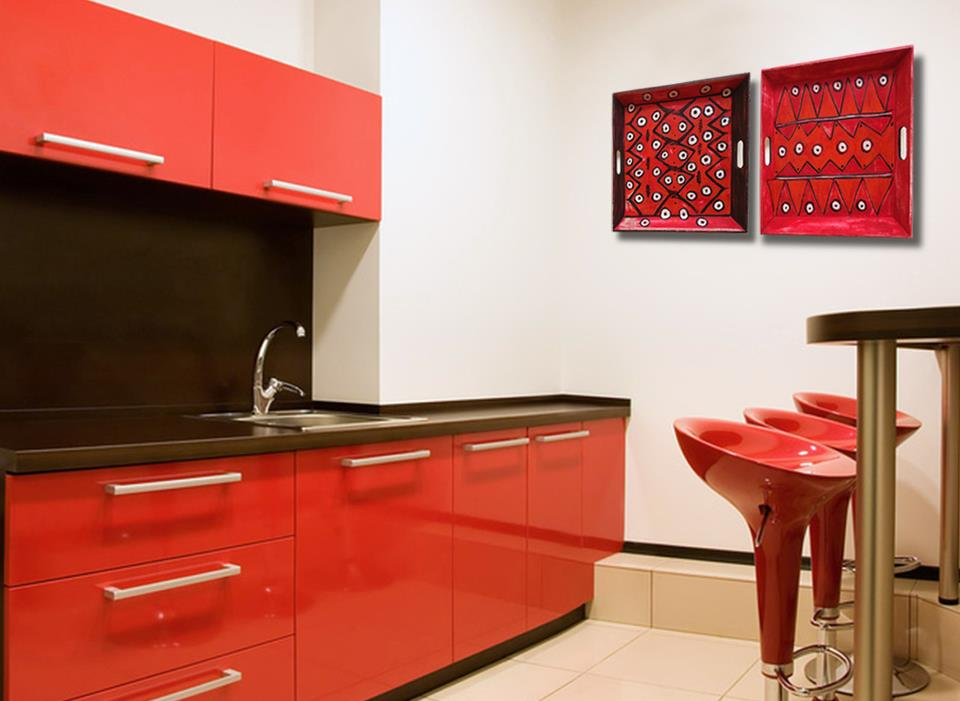 Decoraci n de cocinas rojas - Cocinas decoracion paredes ...