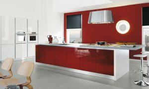 muebles cocina color rojo