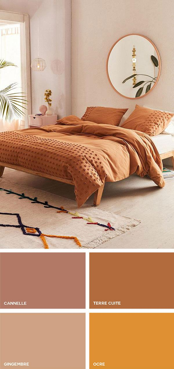 Colores cálidos en la decoración
