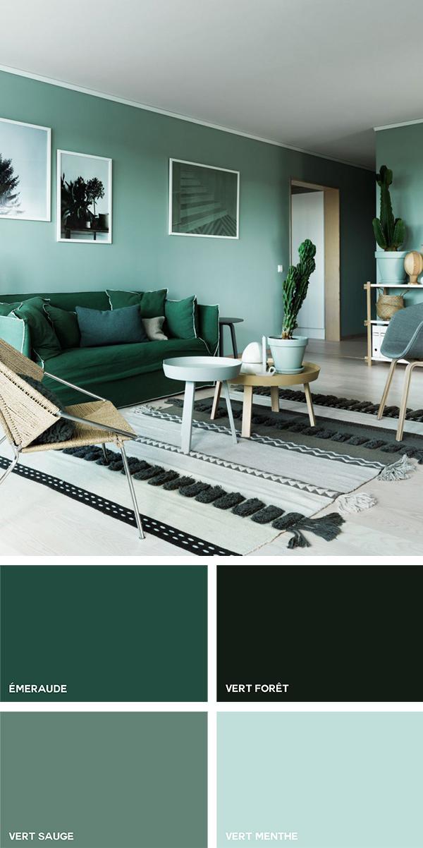 Los tonos verdes en la decoración