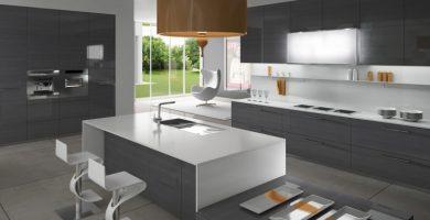 cocina blanca gris