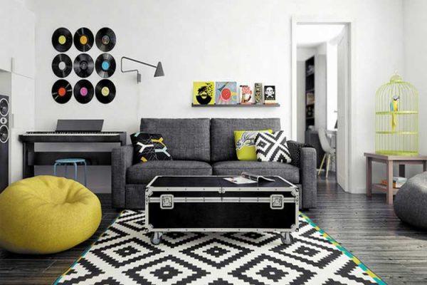 pared discos vinilo