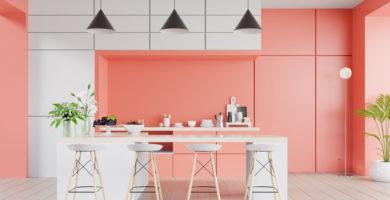 cocina-color-coral