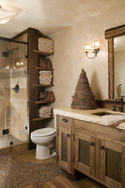 mueble rustico de baño