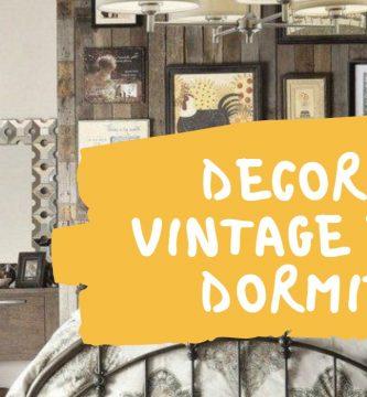 decoracion vintage dormitorio