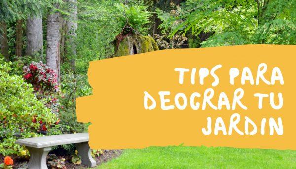 tips para decorar jardin